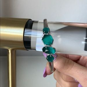 Kendra Scott 'RUBY' bracelet in silver // emerald